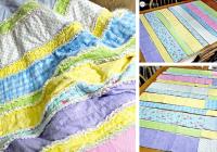 diy flannel ba rag quilt one good thing jillee Elegant String Pieced Rag Quilt Pattern
