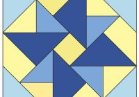 double windmill free patchwork quilt block pattern from a Interesting Windmill Quilt Block Pattern Gallery