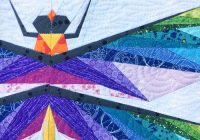 dragonfly mini quilt and new pattern flying parrot quilts Interesting Dragonfly Quilt Patterns Gallery