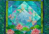 dragonfly pond quilt pattern wall quilt dragonfly pattern applique quilt pattern water lily quilt wall quilt pattern dragonfly quilt Interesting Dragonfly Quilt Patterns Gallery