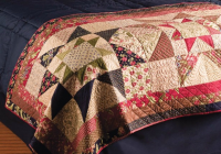 dress up your bed with a lovely quilted runner quilting digest Elegant Bed Runner Quilt Patterns
