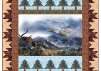 eagle mountains panel pattern landscape quilts fabric Unique Quilting Books Patterns And Notions Inspirations