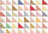 easy half square triangle quilt pattern tutorial Cozy Triangle Pattern Quilt Inspirations