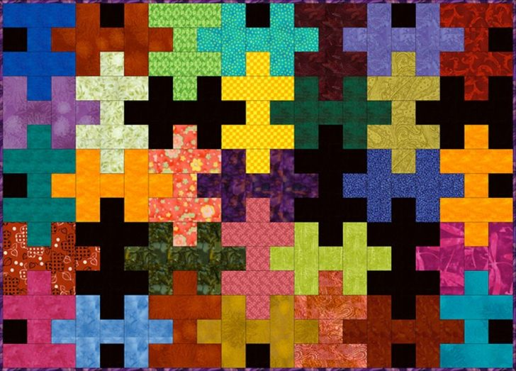 Permalink to Interesting Puzzle Piece Quilt Pattern