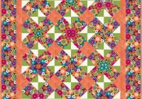 easy kaleidoscope quilt pattern table topper or balap mayflowers Stylish Kaleidoscope Quilt Patterns Inspirations