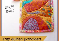 easy quilted potholders kitchen sewing series so sew easy Stylish Quilted Pot Holder Pattern
