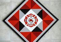 Elegant 24 firefighter barn quilt 120 barn quilt designs quilt 11 Modern Firefighter Quilt Patterns