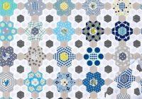 Elegant b is for blues a hexagon quilt part 2 red pepper Cool Hexagon Quilt Patterns Designs