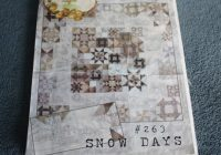 Elegant crabapple hill quilt pattern snow days 263 finished size 66 inches 66 inches designed meg hawkey Interesting Crabapple Hill Quilt Patterns