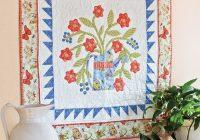 Elegant garden time wall hanging quilt pattern quilting daily 10   Quilt Patterns Wall Hangings Inspirations