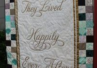 Elegant happily ever after wedding signature quilt wedding guest 11   Wedding Quilt Patterns