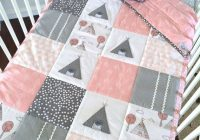 Elegant little teepee girls crib set 4pce patchwork cot quilt 11 Stylish Cot Patchwork Quilt Patterns
