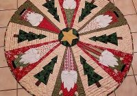 Elegant quilt pattern for a table topper tree skirt santa gnomes nisse ebay Cozy Quilted Tree Skirt Pattern Inspirations