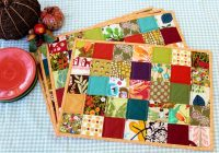Elegant quilted placemat tutorial peek a boo pages 9 Cozy Quilted Placemat Patterns