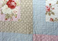 Elegant roses quilting on shab chiccountry cottage style quilt 11 New Shabby Chic Quilt Patterns Inspirations