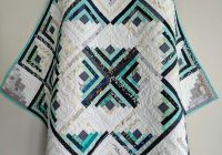 Elegant scrappy log cabin quilt the teal and navy one ma tante 9   Scrappy Log Cabin Quilt Pattern
