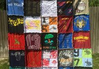 Elegant the thrifty home easy graduation t shirt rag quilt 9 Modern T Shirt Quilt Pattern Easy Gallery