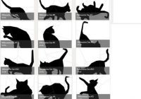 english paper pieced patterns of cat silhouettes from Unique Silhouette Quilt Patterns