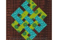 eternity knot rotary quick cut quilt block pattern pdf celtic knot pattern easy quilt pattern infinity knot quilt medallion rotary cut Venetian Chain Quilt Block