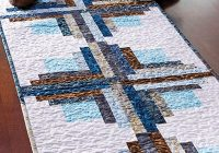 exclusively annies quilt designs juniper logs table runner pattern Cozy Table Runner Patterns For Quilting Inspirations