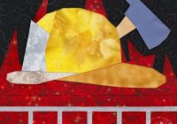 firefighter quilt pattern whims and fancies paper Cool Firefighter Quilt Patterns