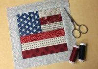 flag quilt block tutorial free on bluprint Cozy American Flag Quilt Pattern