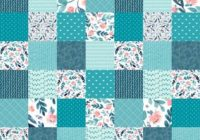 floral nursery quilt fabric the yard cotton cheater quilt teal blush peach flowers ba girl patchwork organic cotton minky knit fabric Quilting Fabric By The Yard
