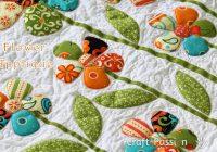 flower applique free applique pattern craft passion Modern Flower Applique Quilt Patterns Inspirations