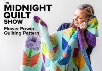 flower power quilt pattern midnight quilt show bluprint Modern Flower Power Quilt Pattern Gallery