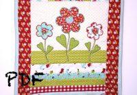 flower quilt pattern table runner quilt pattern applique pattern mug rug pattern quilt pattern pdf pattern spring quilt pattern Applique Flower Quilt Patterns
