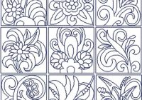 flowers quilt block set Cool Quilt Embroidery Patterns
