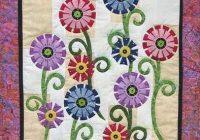free applique patterns stitching cow flower garden Applique Flower Quilt Patterns