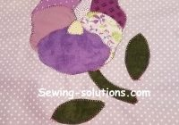 free applique quilt pattern with instructions for a pansy Modern Flower Applique Quilt Patterns Inspirations