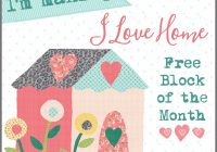 free house quilt block 2 for the i love home free block of Stylish House Block Quilt Pattern Gallery