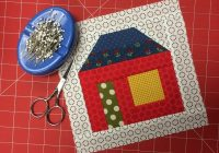 free house quilt block pattern tutorial on bluprint Stylish House Block Quilt Pattern Gallery