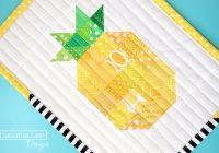 free patchwork pineapple mini quilt pattern sassafras lane Interesting Pineapple Quilt Patterns
