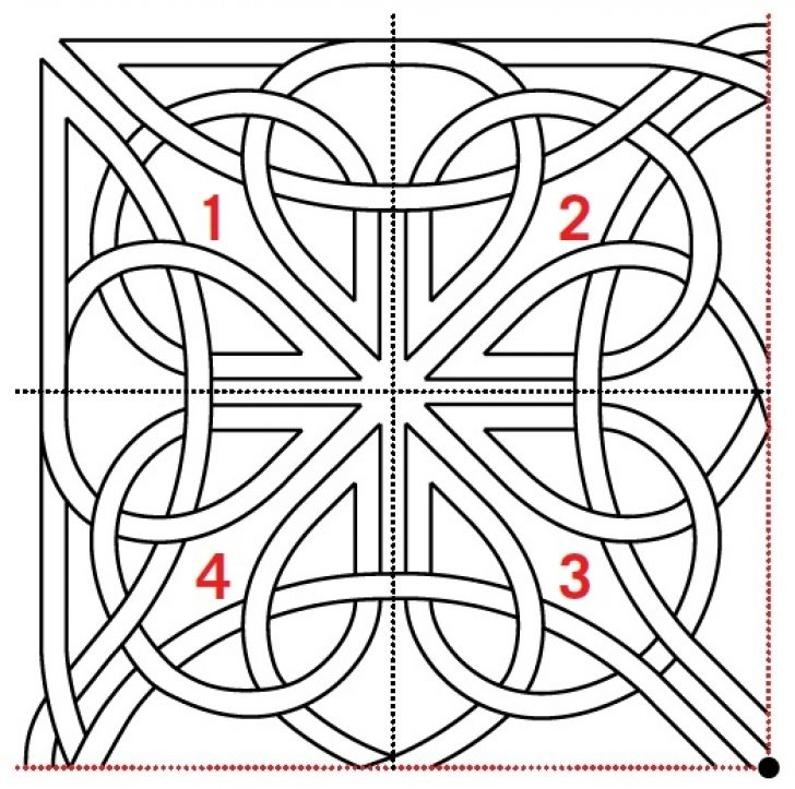 Permalink to Unique Celtic Knots Quilt Pattern