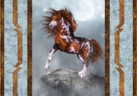 free pattern moonlit painted pony equilter blogequilter blog Unique Elegant Horse Fabric For Quilting Ideas