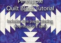 free pineapple quilt patterns illustrated step step Unique Pineapple Quilt Block Pattern