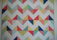 free quilt pattern sunny chevron quilt Interesting Chevron Quilt Pattern Using Triangles Gallery