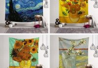 geometry famous van gogh print tapestries wall hanging sunflower tapestry decorative blanket fabric bedroom 200x150cm large gobelin tapestries gobelin Interesting Elegant Van Gogh Quilting Fabric Ideas Gallery