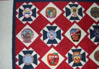 georgia firefighter raffle quilt quiltingboard forums Cool Firefighter Quilt Patterns