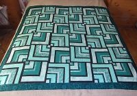 half log cabin quilt top 4600 picclick Half Log Cabin Quilt Pattern