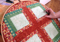 hand quilting 3 of 3 quilted angel Unique Hand Quilt Stitch Patterns Inspirations