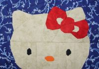 hello kitty paper pieced quilt patterns paper piecing Hello Kitty Quilt Block Patterns Gallery