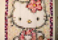hello kitty pixel quilt at dresden lane pixel quilts Modern Hello Kitty Quilt Block Pattern Gallery
