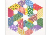 hexagonia quilt block pattern paper pieced quilt pattern instant download celtic knot quilt pattern hexagon quilt pattern geometric Stylish Hexagon Quilt Pattern
