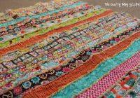 how to make a fabric strip rag quilt the crafty blog stalker Elegant String Pieced Rag Quilt Pattern