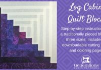 how to make a log cabin quilt block the easy way in 3 sizes 9   Easy Log Cabin Quilt Pattern