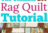 how to make a rag quilt a simple diy sewing project the Modern Unique Double Sided Pre Quilted Fabric For Ideas Inspirations